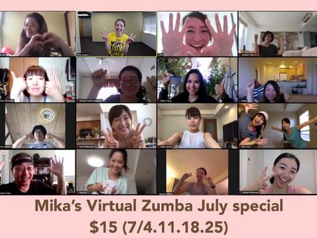 Mika's Virtual Zumba on July!