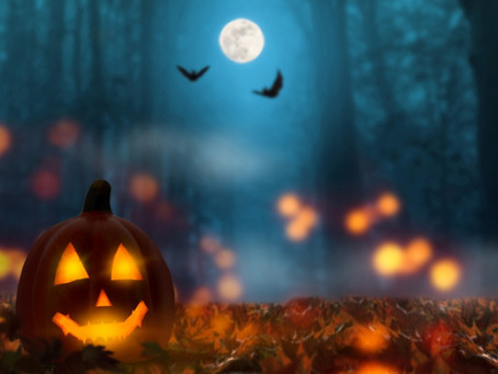 Blue Full Moon: Blessed Samhain Happy Halloween