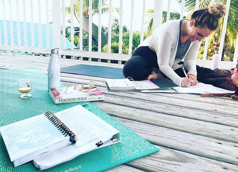 Online Yoga Teacher Training Student Studying Yoga