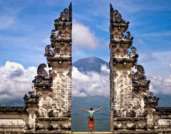 Yoga student in Bali during yoga teacher training