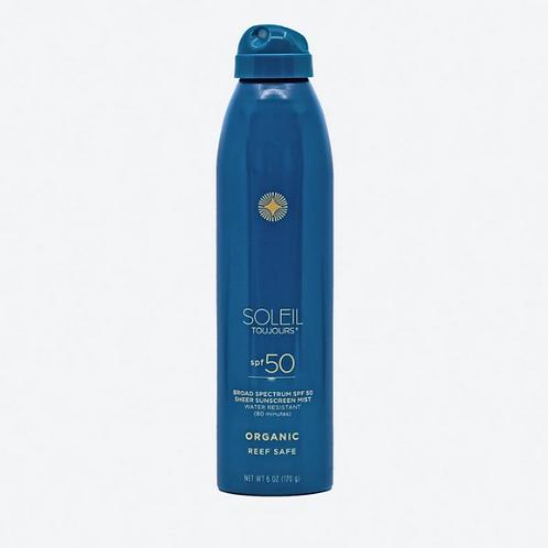 Organic Sheer Sunscreen Mist SPF 50