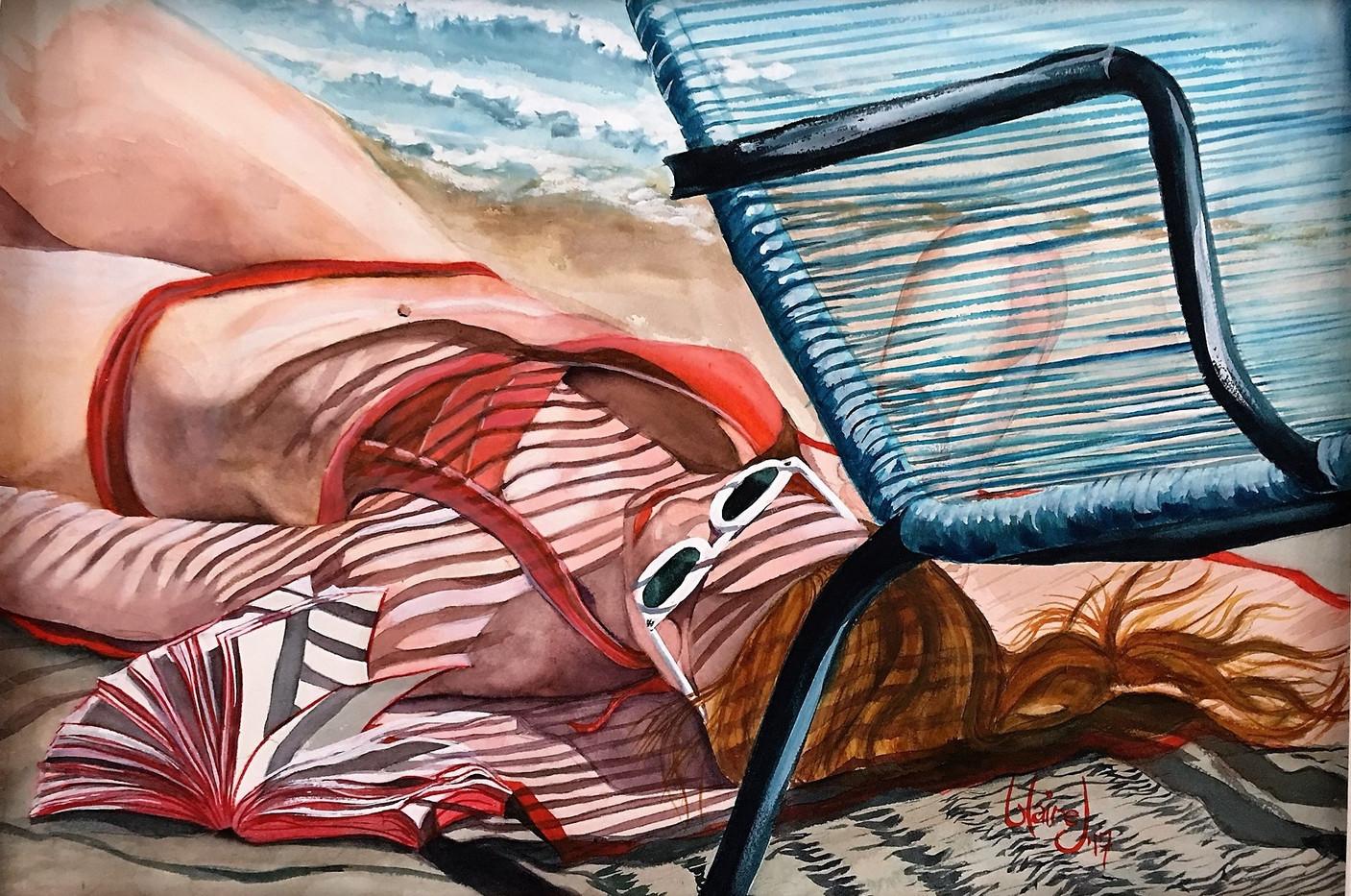Summer tan lines WC 22x28