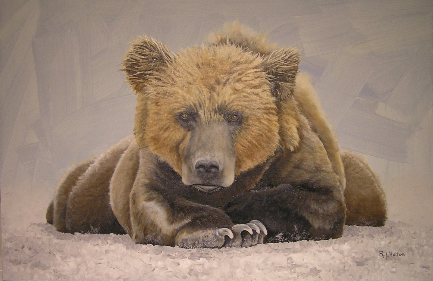 Bear Pose 36x24 SOLD