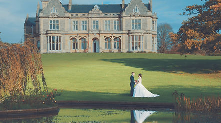 Bristol Wedding fim couple at Clevdon Hall, Bristol, estate grounds