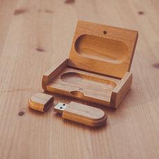 Bristol wedding film USB stick HD video wooden case
