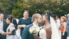 Bristol wedding film couple kiss after mariage ceremony
