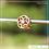 Thumbnail: Berloque zircônia separador redondo flor