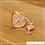 Thumbnail: Berloque zircônia coração com chave