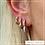 Thumbnail: Brinco argola coração zircônia