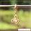 Thumbnail: Berloque zircônia borboleta asa redonda