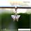 Thumbnail: Berloque zircônia borboleta asa pontuda