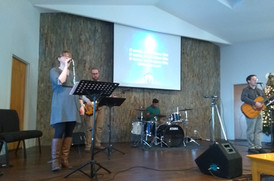 One of the Lansing Worship Music Teams
