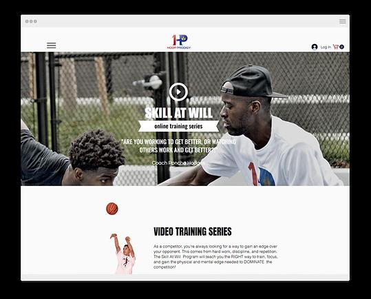 screenshot of a hoop prodigy website browser