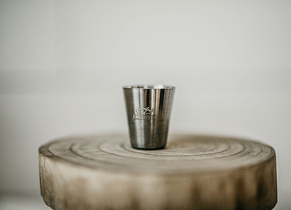 Inscribed Stainless Shot Glass