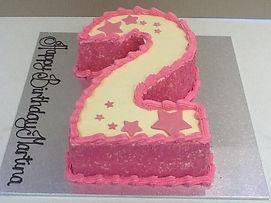 2 Buttercream Pink Stars Sprinkles
