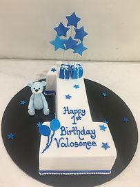 1 White Blue Stars Bear