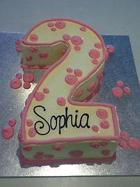 2 Pink Sprinkles Flowers