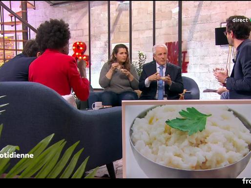 France 5 - La Quotidienne : Passage TV de La Semoule de Choux-fleurs Paysan Breton, Les surgelés !