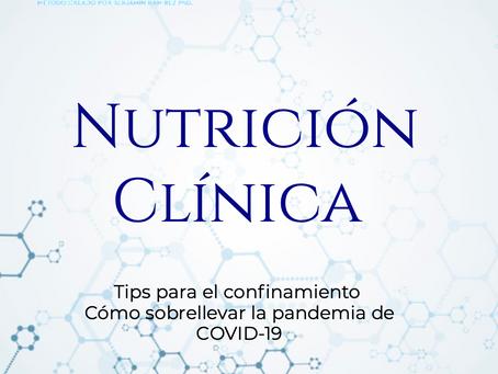 Ebook Gratuito. Nutrición clínica. Tips para el confinamiento y sobrellevar la pandemia de COVID-19