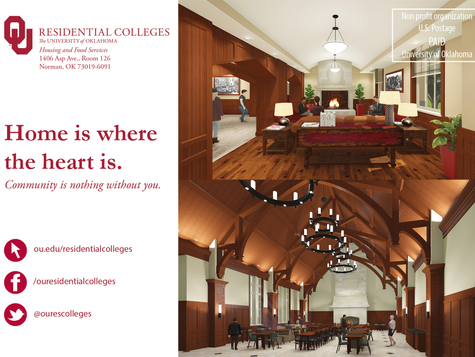 OU Residential Colleges - Direct Mailer