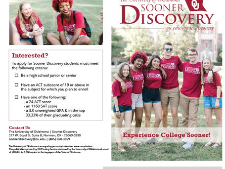 Sooner Discovery Promotion Material