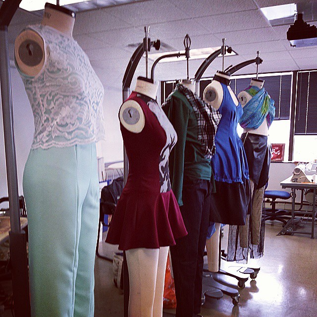 Draping student work