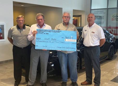 Former Erwin Middles principal grand prize winner In Nazareth fundraiser
