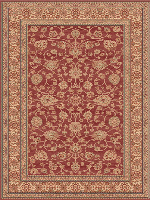 Treasure Traditional Beige Red Rug
