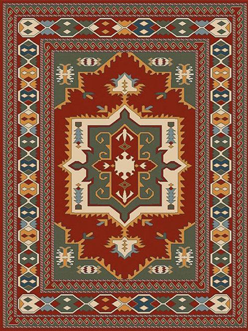 Tigani Tribal Red Rug