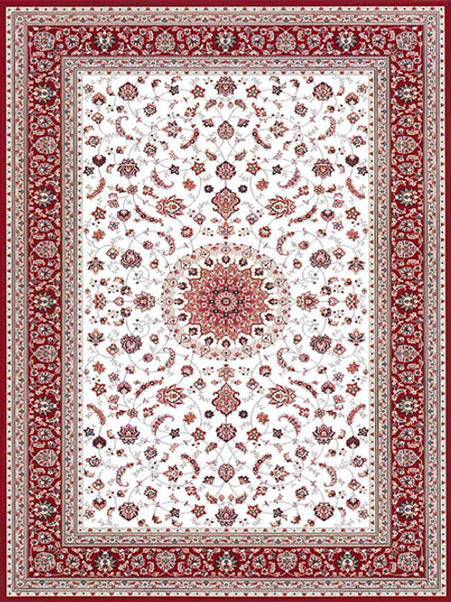 SmartStrand Royal Classique Traditional Red Border Rug