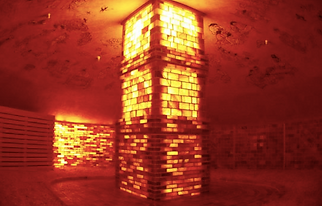 Himalayan Salt room at Korean Spa.