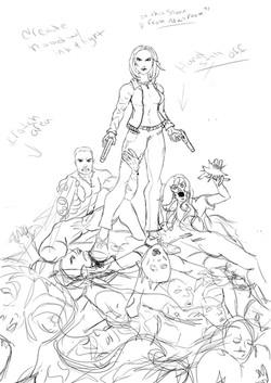 Flesh Cover Web sketch