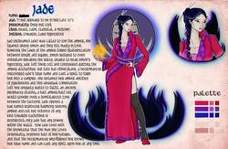 Jade character card