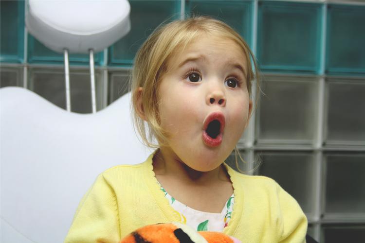 Young girl with prosthetic eye