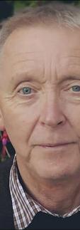 Elderly man wearing a prosthetic eye