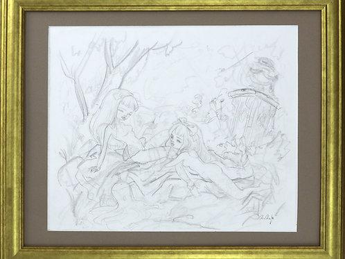 """""""Spring Melody"""" Original Drawing"""