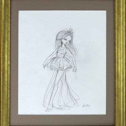 """Giambattista"" Original Framed Drawing"