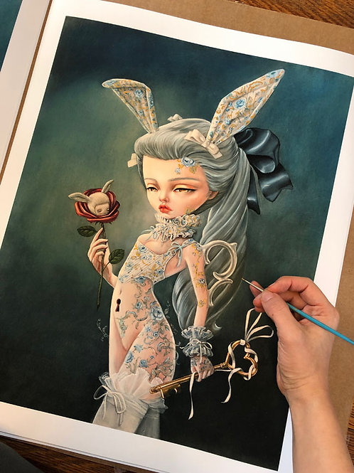 An Invitation Hand Embellished Print