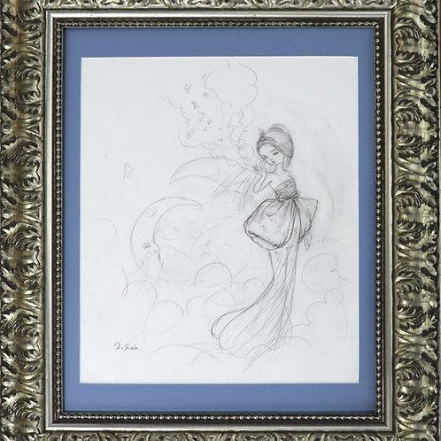 """The Creators B"" Original Framed Drawing"