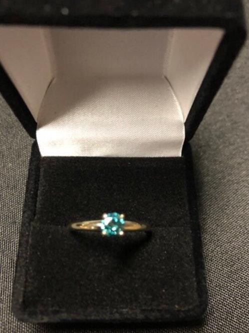 .33 Carat Blue Diamond Ring