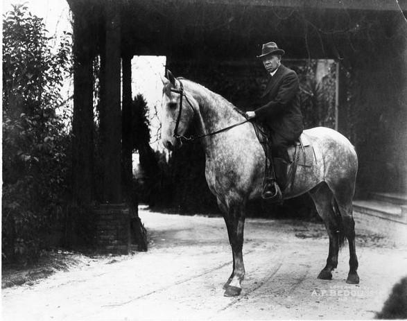 Booker T. Washington on Horseback