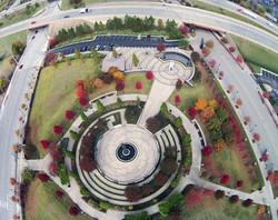 John Hope Franklin Park - Aerial View
