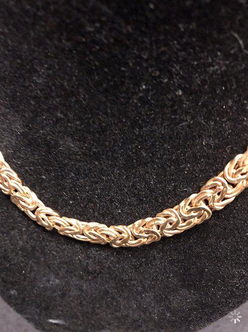 """16.5"""" 10K Gold Princess Style Necklace"""