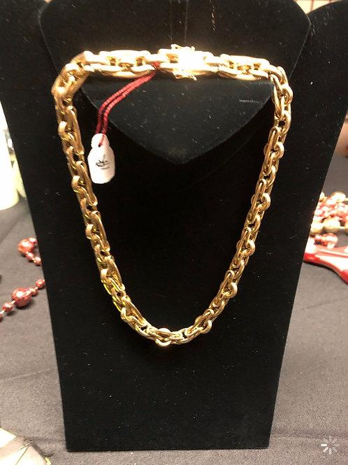 "17"" 14K Gold Italian Style Necklace"