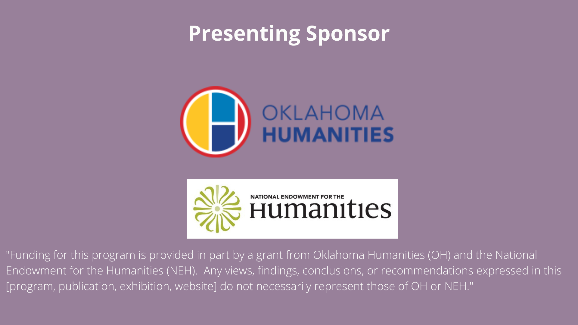 Oklahoma Humanities - National Endowment for the Humanities
