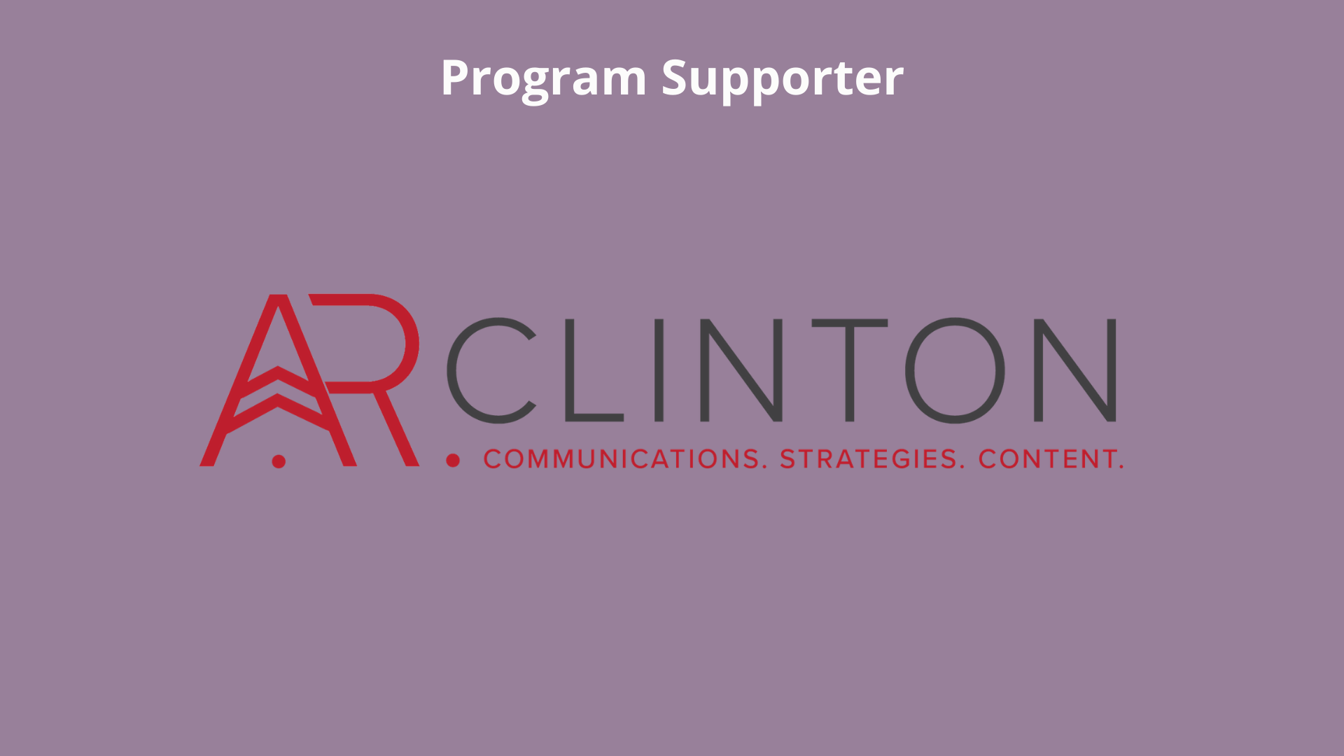 A.R. Clinton: Communication. Strategy. Content.