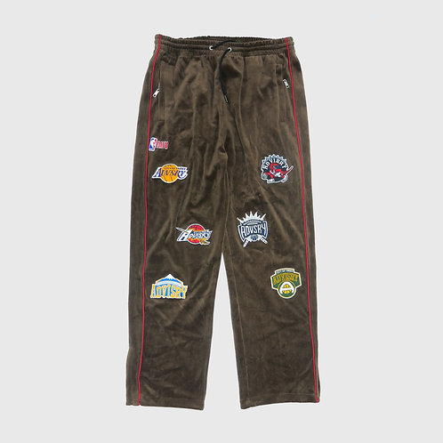 Parody Velour Track Pants (Brown)
