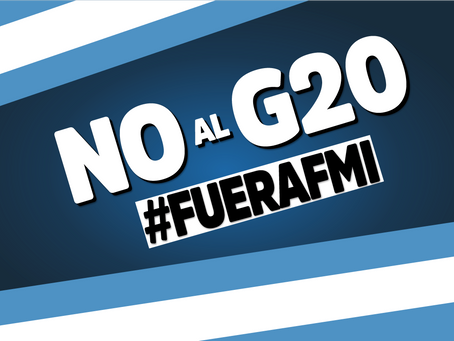¿Por qué decimos NO al G20?