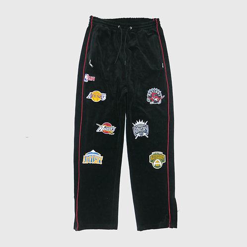 Parody Velour Track Pants (Black)