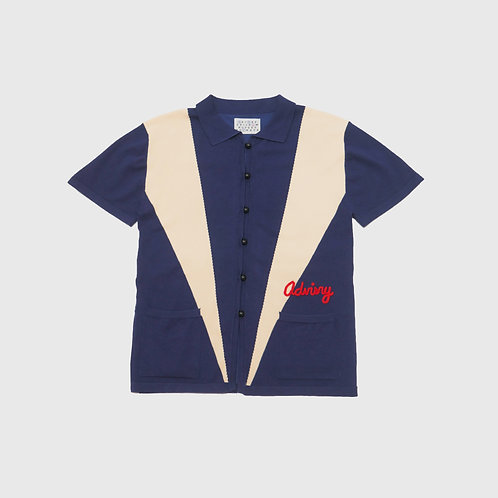 Navy Bowling Shirt
